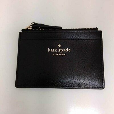 $ CDN31.57 • Buy Kate Spade Black Leather Zip Id Wallet Wfd
