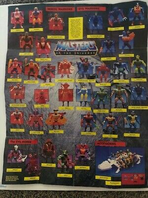 $6.99 • Buy He-Man MASTERS OF THE UNIVERSE Figure Catalog Large Poster 1985 Mattel Original