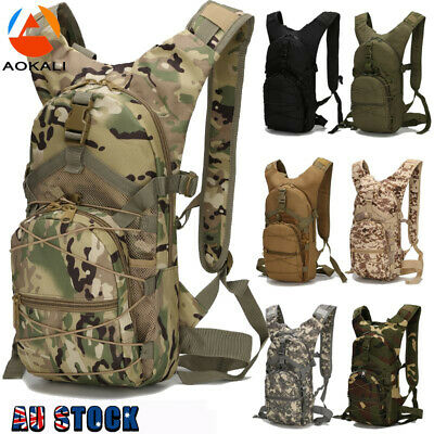 AU35.99 • Buy 15L Molle Tactical Backpack Military Hiking Outdoor Sports Cycling Climbing Bag