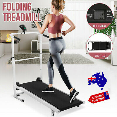 AU159.99 • Buy Folding Treadmill LED Display Fitness Home Sport Machine Running Walk Exercise