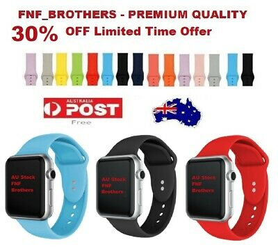 AU7.99 • Buy For Apple Watch IWatch Series 1/2/3/4/5/6/SE Silicone Replacement Strap Band