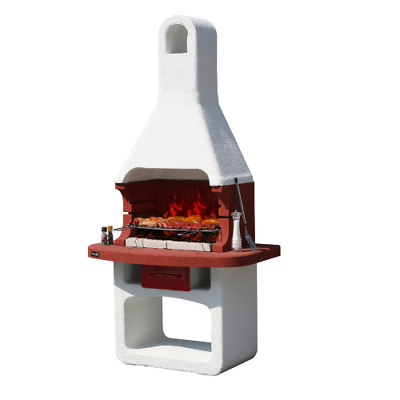 £800.78 • Buy Como Charcoal Barbecue In Refractory Concrete Masonry With Hood And Grill