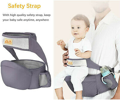 Viedouce Hip Seat Baby Carrier With Safety Belt, Pure Cotton, 6-36 Months NEW • 25£