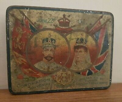 Coronation Souvenir Rowntrees Tin * King George V & Queen Mary *  • 3£