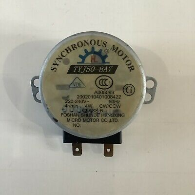 £5.90 • Buy Microwave Oven Turntable Carousel Synchronous Motor TYJ50-8A7 220-240V 4r/min 4W