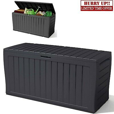 £56.99 • Buy Keter XL Large Storage Shed Garden Outdoor Box Lockable Outside Box With Wheels