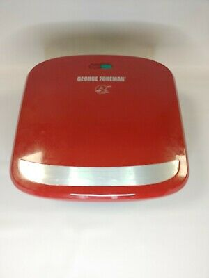 George Foreman Grill Red GRP360R 4 Servings Removable Plate Grill Panini Press • 14.64£