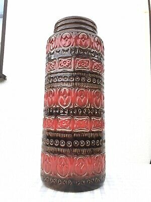 Vintage Retro Red West German Scheurich Floor Vase 289-41 41cm • 40£