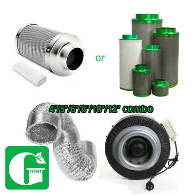 AU179 • Buy 4  5  6  8  10  12  Hydroponics Ventilation Duct Fan Carbon Filter Ducting Kit