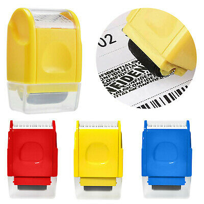 Roller Stamp Identity Privacy ID Confidential Guard Data Theft Protection UK • 7.79£