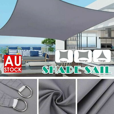 AU36.99 • Buy Waterproof Heavy Duty Proof Sun Shade Sail Grey Gray Triangle Rectangle Square