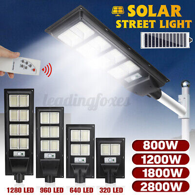 £18.99 • Buy Super Bright LED Street Light Wall Solar Powered Road Lamp Motion Path W/ Remote