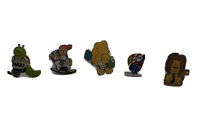 Five Cartoon Character / Animal Pin Badges • 0.99£