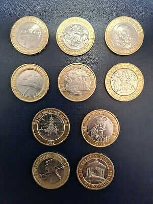 Rare £2 Pound Coin Job Lot  • 20£