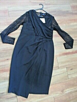 AU18 • Buy Asos Maternity Black Special Occasiom Dress. Size 12  New With Tags