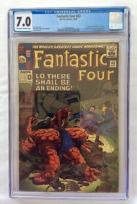 AU100 • Buy Marvel Comics Fantastic Four #43 CGC Grade 7.0 White Pages 10/65 Frightful 4 App