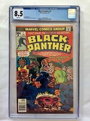 AU200 • Buy Marvel Comics Black Panther #1 First Issue CGC Grade 8.5 White Pages 1/77 Kirby