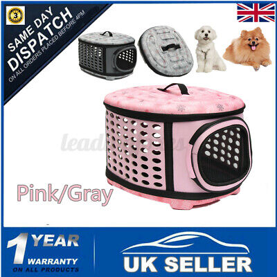 £14.24 • Buy LARGE Pet Dogs Cat Puppy Travel Carry Carrier Tote Cage Bag Crates Kennel Holder