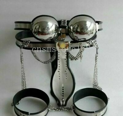 £129.99 • Buy Male Female Stainless Steel Chastity Belt Device Pants Bra Thigh Ring Cage Bands