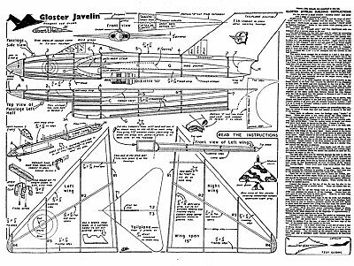 £5.99 • Buy Jetex Gloster Javelin Plan With Patterns