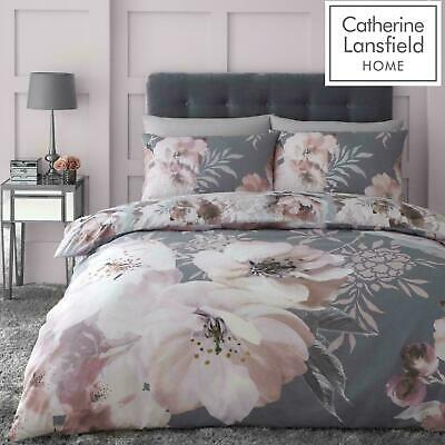 £15.29 • Buy Catherine Lansfield Dramatic Floral Easy Care Duvet Cover Bedding Set Grey