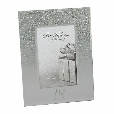 £5.99 • Buy Silver Glitter & Mirror 4'x6' Photo Frame With Number - 18th Birthday