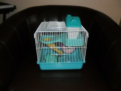Dwarf Hamster Cage New With House And Wheel • 6£