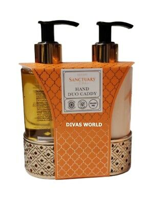 £14.93 • Buy Sanctuary Spa Hand Duo Caddy Hand Wash 250ml & Hand Lotion 250ml Gift Set NEW