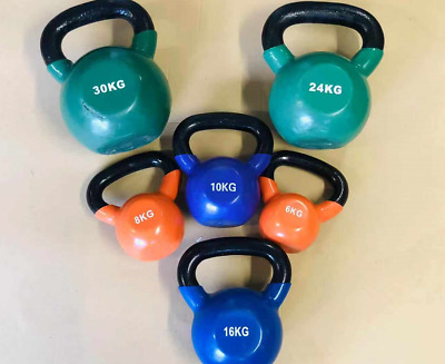 AU63.06 • Buy Iron Kettlebells Weight 6-30kg Home Workout Gym Grade A Refurbished