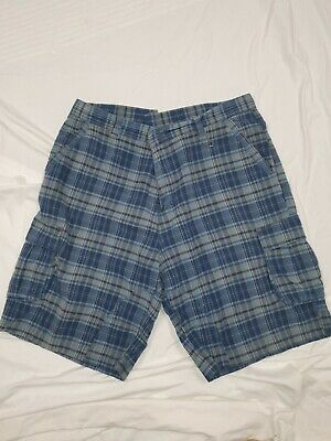 Mens Airwalk Blue Cheque Shorts XXL/ 38 To 40  Inch Waist  • 8£