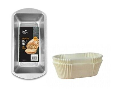 Non-Stick Grease Proof 1lb 2lb Paper Loaf Cake Tins / Liners (Pack 1/20/40/100) • 6.69£