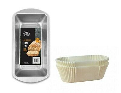 £6.99 • Buy Non-Stick Grease Proof 1lb 2lb Paper Loaf Cake Tins / Liners (Pack 1/20/40/100)