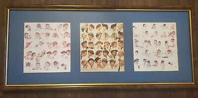 $ CDN50.43 • Buy Norman Rockwell 3 Framed Prints-gossips-A Day In The Life Of A  Boy & Girl
