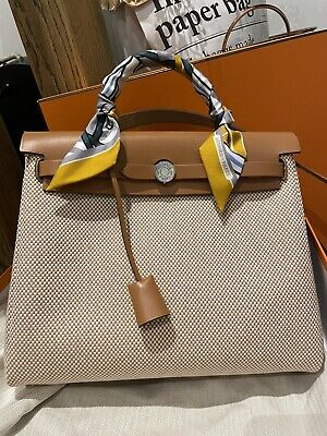 AU4200 • Buy HERMES Herbag Zip 31 Retourne Toile Beige Full Set With Box