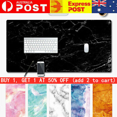 AU14.99 • Buy Large Marble Grain Game Mouse Pad Home Office Computer Desk Mat For Laptop PC HQ