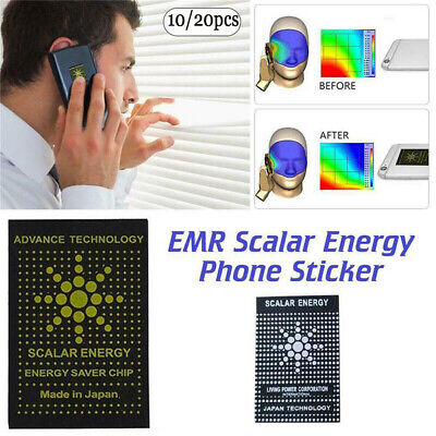 10/20X EMF Protection Quantum Scalar Anti Radiation Laptop Phone Mobile Sticker • 4.19£