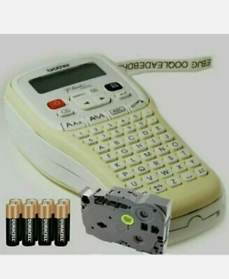 Brother Hand Held Label Maker Labelling Print Machine + Tape + Batteries H101C • 26.99£