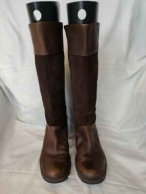 Rockport Hydrosheild Weatherproof Brown Leather Tall Boots Size 39 Uk 6 • 40£