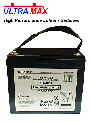 £352.86 • Buy Lithonia ELB1245 12V 75Ah Emergency Light Replacement LITHIUM PHOSPHATE Battery