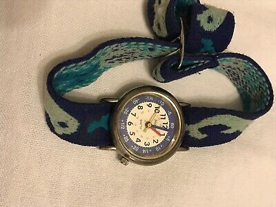 £4 • Buy Unisex Childrens Learn To Tell The Time Watch Blue Dolphins