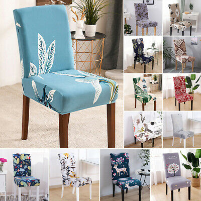 AU14.82 • Buy AU Dining Chair Seat Covers Slip Removable Stretch Wedding Banquet Party Decor