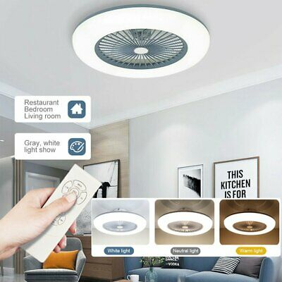 £49.99 • Buy LED 40W Ceiling Fan Light Lighting Adjustable Wind Speed Dimmable IR With Remote
