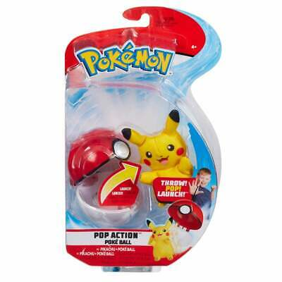 Pokemon Pop Action Poke Ball - Pikachu Mouse Soft Toy - Launch Up To 10 Feet! • 14.49£
