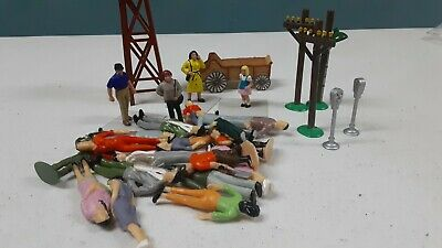 $4.99 • Buy 19 Painted Model People For Train And Misc. Pieces Maybe 0 Scale