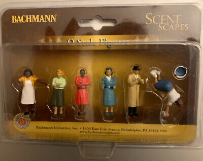 $10.99 • Buy NEW Bachmann O Scale Sidewalk People SceneScapes Train Figures FAST Shipping
