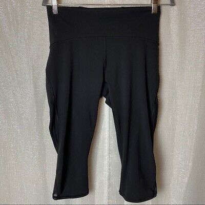 $ CDN43.03 • Buy Lululemon Black Crop Leggings With Mesh~10