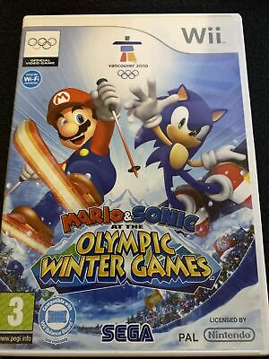 Mario & Sonic At The Winter Olympic Games - Nintendo Wii • 10£