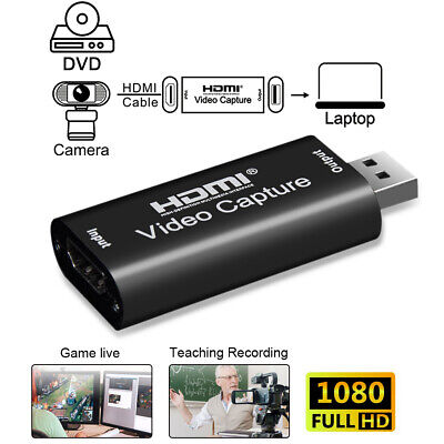 Video Capture Card HDMI To USB Full HD 1080P Recorder For Game Live Streaming UK • 7.98£