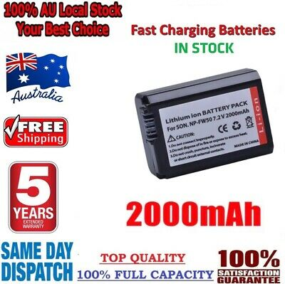 AU15.80 • Buy *2021* Real 2000mAh NP-FW50 Battery For SONY Alpha A5000,A5100,A6000,A6300,A6500