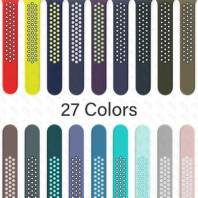 AU7.07 • Buy Silicone Band Strap Apple Watch Nike+ Sport Series 6 5 4 3 2 1 SE 38/40/42/44mm